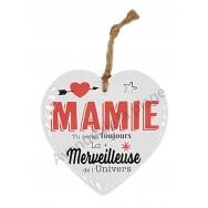 Coeur message La plus Merveilleuse Mamie de l'Univers