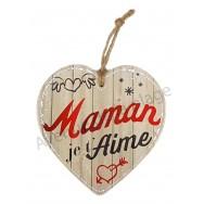 Coeur message Maman Je t'Aime en céramique