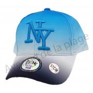Casquette NY bicolore fluo bleue et noire