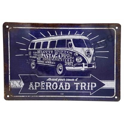 Plaque vintage combi Apéroad Trip