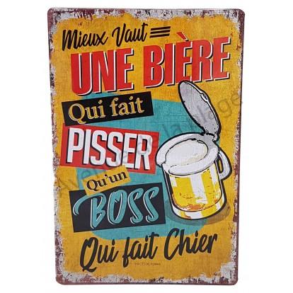 Plaque vintage Mieux vaut une bière