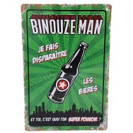 Plaque vintage Binouze Man