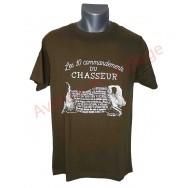 """T-shirt humoristique """"Les commandements du chasseur"""""""