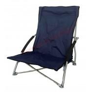 Chaise de plage basse et pliante bleue marine