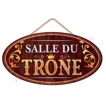 """Plaque de porte toilettes """"Salle du Trône"""""""