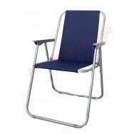 Chaise de plage pliante bleue marine