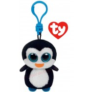 Peluche Ty Beanie Boo's porte clé Waddles le pingouing