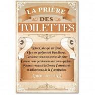 Toile humoristique La Prière des Toilettes