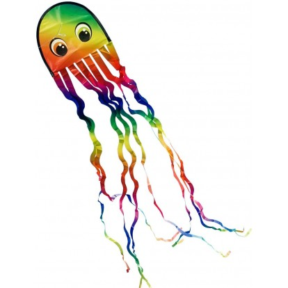 Cerf-volant pour enfant pieuvre multicolore 200 cm
