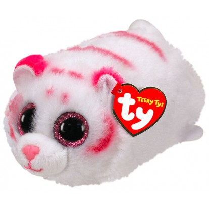 Peluche Teeny Ty Tabor le tigre blanc et rose