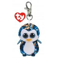 Peluche Ty Flippables porte clé Payton le pingouin