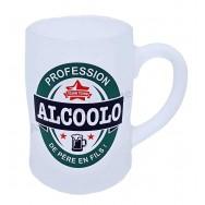 Chope à bière humoristique Profession Alcoolo