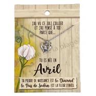 Pendentif pierre de naissance Avril