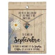 Pendentif pierre de naissance Septembre