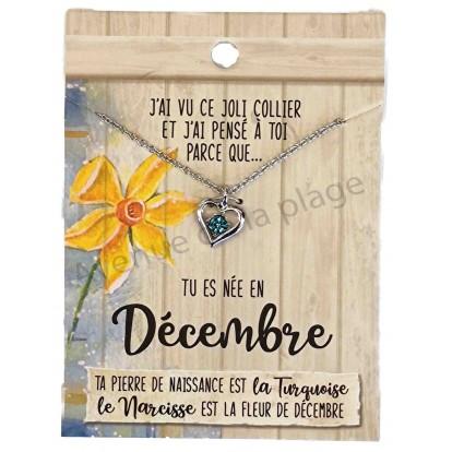 Pendentif pierre de naissance Décembre