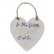 Coeur message La plus Gentille Nounou