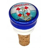 Bouchon décoratif Bouée et Ancre Beach Love