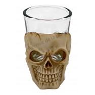 Verre à liqueur Tête de Mort