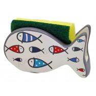 Porte éponge poissons enfantins