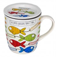 Mug tisanière Les petits poissons dans l'eau