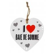 Coeur I Love Baie de Somme à suspendre