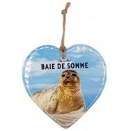 Coeur Phoque de la Baie de Somme à suspendre