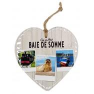 Coeur 3 vues de la Baie de Somme à suspendre