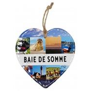 Coeur symboles de la Baie de Somme à suspendre