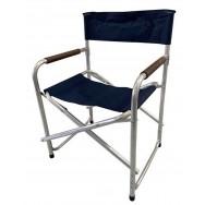 Chaise pliante Régisseur en aluminium bleu marine