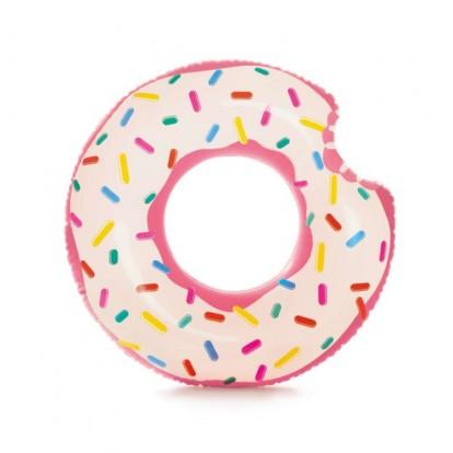 Bouée géante donut fraise 107 cm