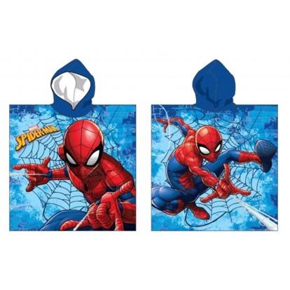 Cape de bain Spiderman dans sa toile