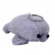 Peluche porte clé phoque gris