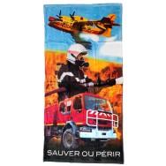 Serviette de plage pompier Sauver ou Périr