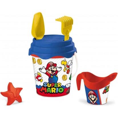 Seau de plage Super Mario avec accessoires
