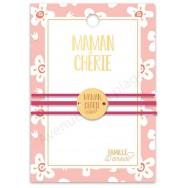 Bracelet message médaillon Maman Chérie