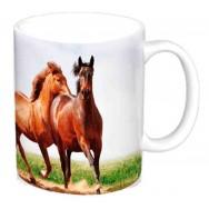 Mug chevaux dans la nature