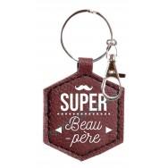 Porte clé message Super Beau-Père
