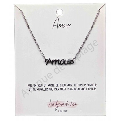 Pendentif message Amour
