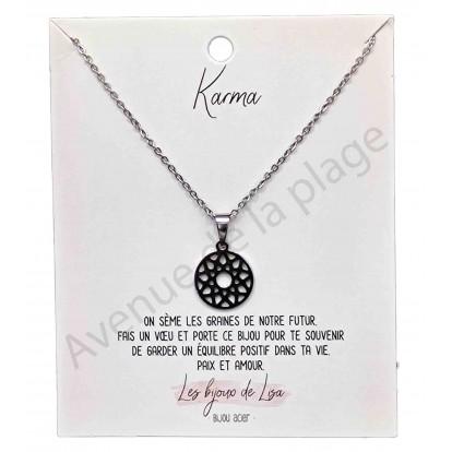 Pendentif message Karma mandala