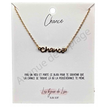 Pendentif message Chance