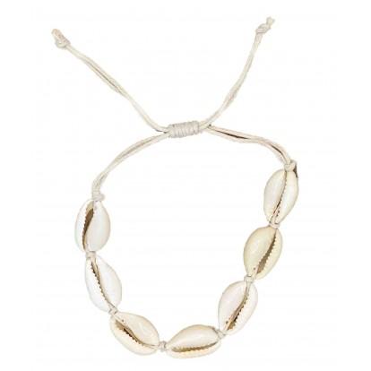 Bracelet 7 coquillages cauris naturels