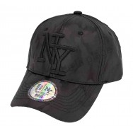 Casquette NY noir reflets camouflage