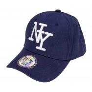 Casquette NY unie bleue marine