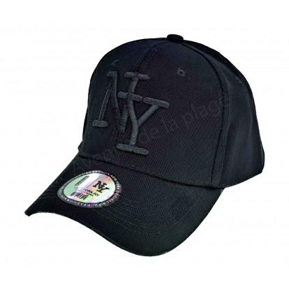 Casquette NY unie noire