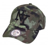 Casquette enfant NY Chasse camouflage vert