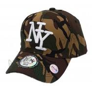 Casquette enfant NY camouflage militaire kaki