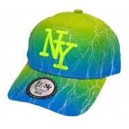 Casquette enfant NY Éclairs bicolore bleu/vert