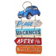 Panneau décoratif Direction les Vacances