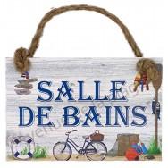 Plaque de porte maison de pêcheur Salle de Bains