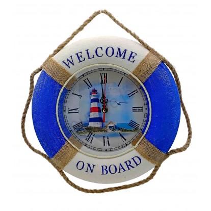Pendule bouée Welcome on board avec le phare